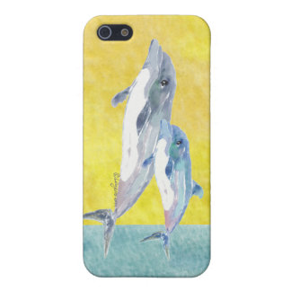 Two Dolphins, Mom and Baby iPhone 5/5s Case
