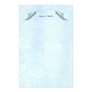 Two Dolphins Customized Stationery