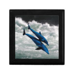 Two Dolphins Swiming at Sea Trinket Boxes