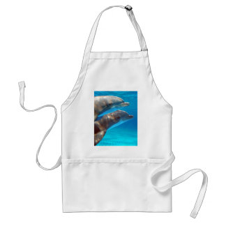 Two Dolphins swimming Adult Apron