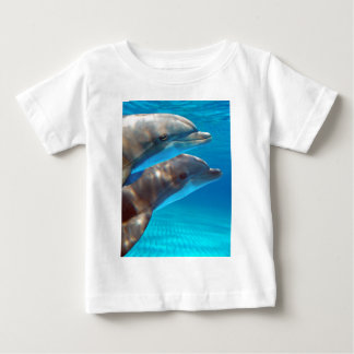 Two Dolphins swimming Baby T-Shirt