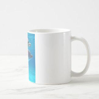 Two Dolphins swimming Coffee Mug
