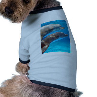 Two Dolphins swimming Pet Tee Shirt