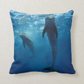 TWO DOLPHINS SWIMMING PILLOW