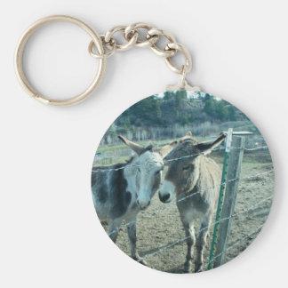 Two Donkeys Basic Round Button Keychain