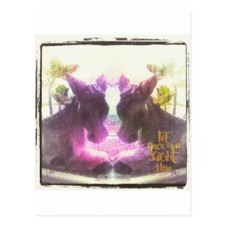 Two Donkeys Let Your Light Shine Postcard