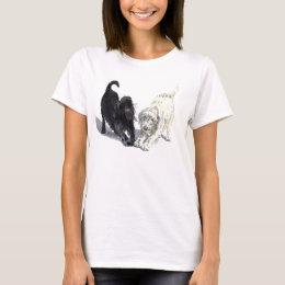 Two Doodles Ladies T-shirt