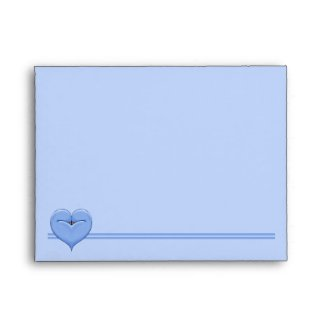 Two Doves One Heart blue A2 Envelope envelope