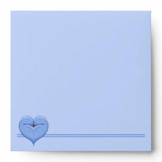 Two Doves One Heart blue Invitation Envelope envelope