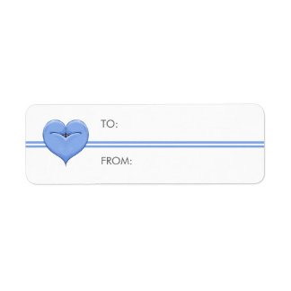 Two Doves One Heart blue Small Gift Tag