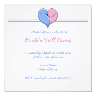 Two Doves One Heart Bridal Shower Invitation