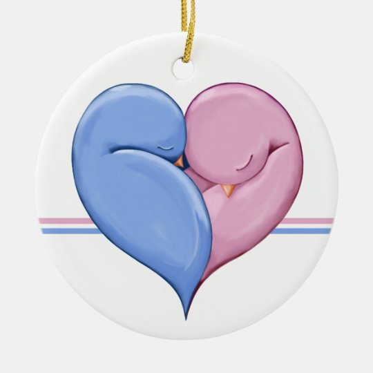 Two Doves One Heart Ornament