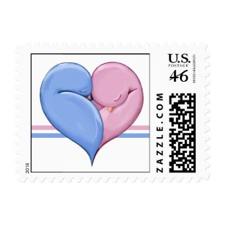 Two Doves One Heart Stamp stamp