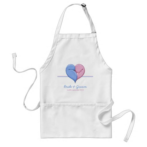 Two Doves One Heart Wedding Apron