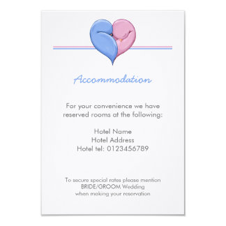 Two Doves One Heart Wedding Enclosure Card