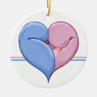 Two Doves One Heart Wedding Ornament