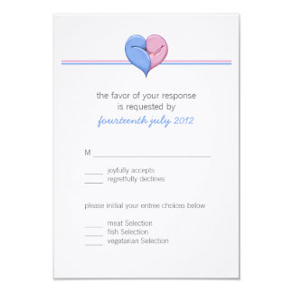 Two Doves One Heart Wedding RSVP Card