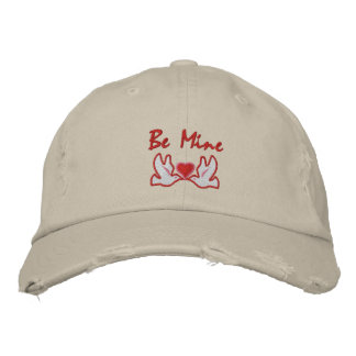 Two Doves with Heart Embroidered Hat - Customize