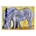 Two Draft Horses, Dapple Grey Greeting Card