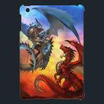 """two dragon iPad mini case<br><div class=""""desc"""">fire & ice Concept</div>"""