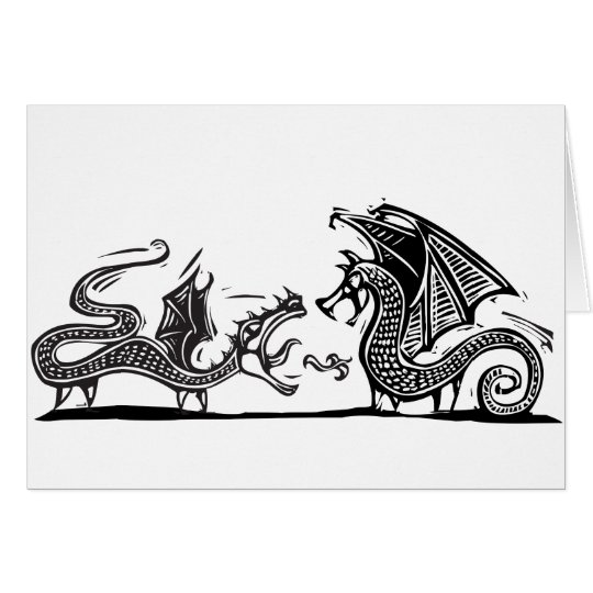 Two Dragons Card