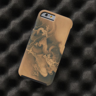 Two Dragons in Clouds Vintage Tough iPhone 6 Case
