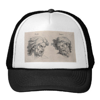 Two Drawings of Angry Faces Trucker Hat