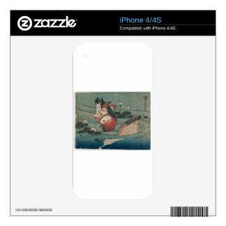 Two Ducks by Keisai Eisen Decal For iPhone 4