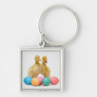 Two ducks with Easter Eggs Key Chain