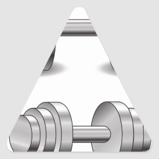 Two Dumbbells Triangle Sticker