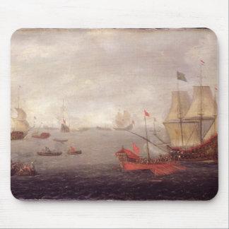 Two Dutch Men o'War Accompanied by Ottoman State B Mouse Pad