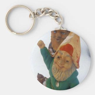 Two Dwarfs Basic Round Button Keychain