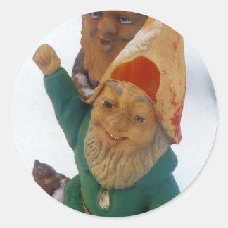 Two Dwarfs Classic Round Sticker
