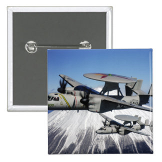 Two E-2C Hawkeyes conduct a flyby Pinback Button