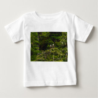 Two Eagles Perched Painterly Baby T-Shirt