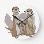 two earth males with shade wallclock