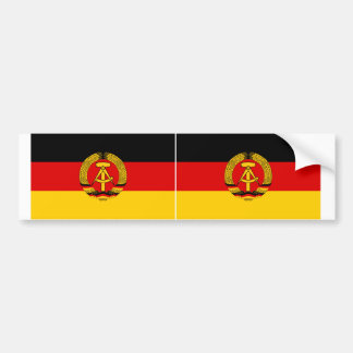 TWO East Germany Flag Bumper Sticker