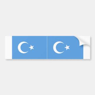 TWO East Turkestan Uyghur Flag Bumper Sticker