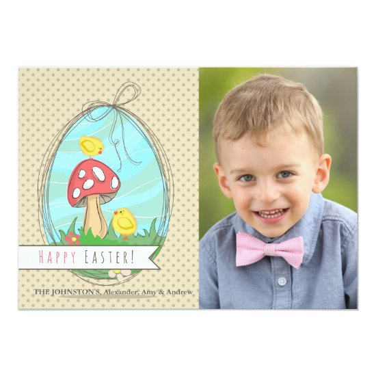 Two Easter Chicks Photo Card