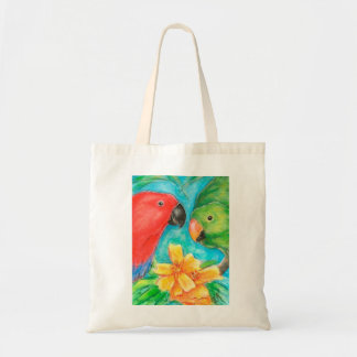 Two Eclectus Parrots Tote Bag