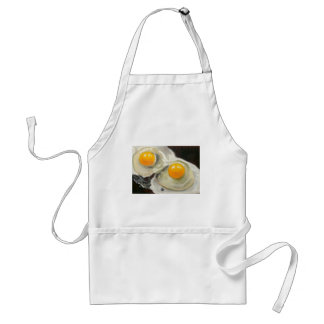 Two Egg: Oil Pastel Painting: Food Art Adult Apron