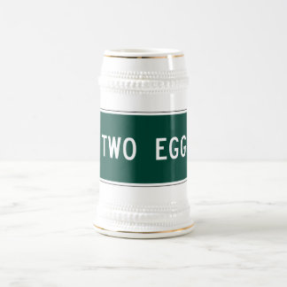 Two Egg, Road Marker, Florida, USA Beer Stein