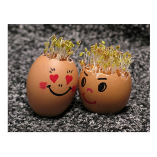 Two eggmen Dating Postcard
