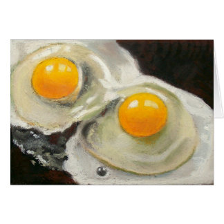 TWO EGGS REALISM ARTWORK CARD