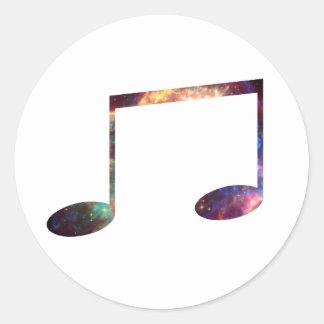 Two eighth nebula 1 notes classic round sticker