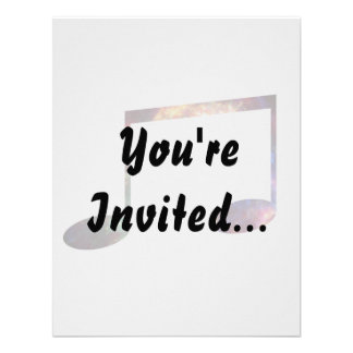 Two eighth nebula 1 notes personalized invitation
