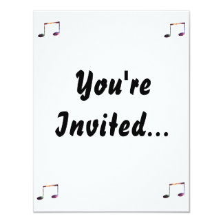 """Two eighth nebula 1 notes 4.25"""" x 5.5"""" invitation card"""