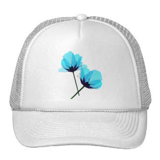 Two Electric Blue Flowers Hat