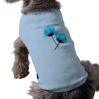 Two Electric Blue Flowers Pet Clothing