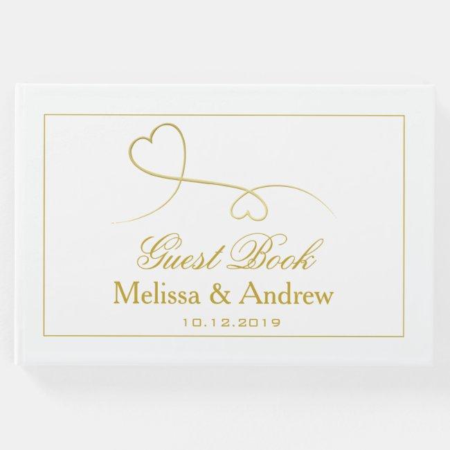 Two Elegant Gold Hearts | Wedding